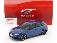 Audi RS3 year 2015 blue metallic 1:18 GT-Spirit