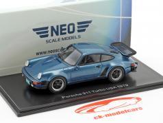 Porsche 911 (930) Turbo USA year 1979 blue metallic 1:43 Neo