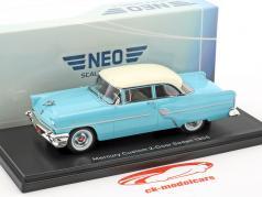 Mercury Custom 2-door Sedan year 1955 light blue / white 1:43 Neo