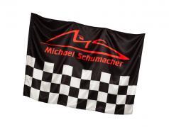 Michael Schumacher drapeau Chequered 140 x 100 cm noir / rouge / gris