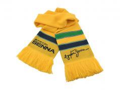 Ayrton Senna scarf Racing yellow