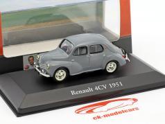 Renault 4CV year 1951 Gray 1:43 Atlas