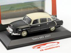 Tatra 603 year 1957 black / white 1:43 Atlas