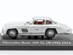 Mercedes-Benz 300 SL (W198) year 1954 silver 1:43 Atlas