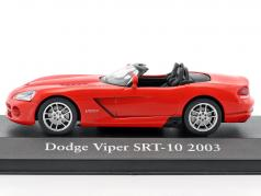 Dodge Viper SRT-10 Opførselsår 2003 rød 1:43 Atlas