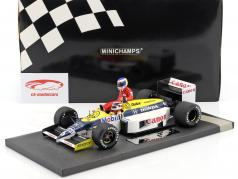 K. Rosberg riding on N. Piquet Williams FW11 #6 vincitore Germania GP F1 1986 1:18 Minichamps