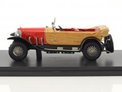 Mercedes 28/95 PS RHD year 1922 red / wood optics 1:43 Neo