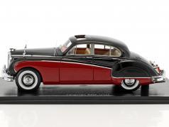 Jaguar MK VIII RHD dark red / black 1:43 Neo