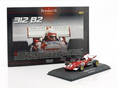 Clay Regazzoni Ferrari 312 B2 #5 fórmula 1 1971 1:43 Atlas