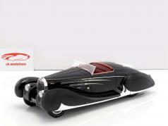 Bugatti Type 57C Cabriolet VanVooren Shah af Iran Opførselsår 1939 mørk blå 1:18 Matrix