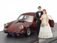 Porsche 911 Troutman and Barnes Bryllup udgave med åbent døre Opførselsår 1971 brun metallisk 1:43 Matrix