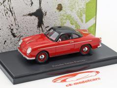 Porsche Teram Puntero Opførselsår 1958 rød / sort 1:43 AutoCult