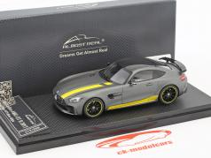 Mercedes-Benz AMG GT R Baujahr 2017 gelb / grau metallic 1:43 Almost Real