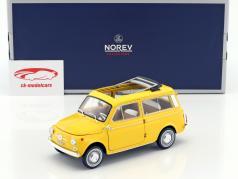 Fiat 500 Giardiniera ano de construção 1968 positano amarelo 1:18 Norev