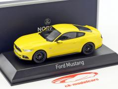 Ford Mustang Fastback year 2015 yellow 1:43 Norev