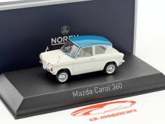 Mazda Carol 360 ano de construção 1962 branco / azul claro 1:43 Norev
