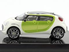 Citroen C-Cactus Concept Car year 2007 white / lime metallic 1:43 Norev