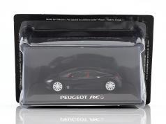 Peugeot RC Pique Concept Car nero in bolla 1:43 Norev