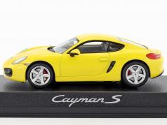 Porsche Cayman S 981 anno di costruzione 2013 giallo 1:43 Norev