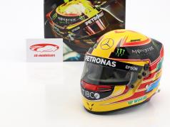 Lewis Hamilton Mercedes F1 W08 EQ Power+  World Champion Formel 1 2017 Helm 1:2 Bell