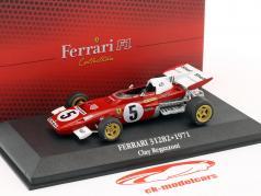 Clay Regazzoni Ferrari 312 B2 #5 formula 1 1971 with showcase 1:43 Atlas
