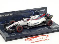 Gary Paffett Williams FW40 #41 Test Bahrain Formel 1 2017 1:43 Minichamps