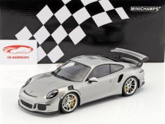 Porsche 911 (991) GT3 RS year 2015 silver / silver rims 1:18 Minichamps