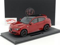 Alfa Romeo Stelvio Quadrifoglio L. A. Auto Show 2016 red metallic / black with showcase 1:18 BBR