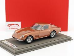 Ferrari 275 GTB4 coupe year 1967 brown metallic With Showcase 1:18 BBR