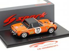 Porsche 914/6 #17 Rallye Monte Carlo 1971 Andersson, Thorszelius 1:43 Spark