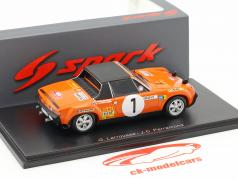Porsche 914/6 #1 Rallye Monte Carlo 1971 Larrousse, Perramond 1:43 Spark