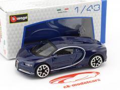 Bugatti Chiron dunkelblau 1:43 Bburago