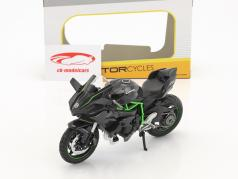 Kawasaki Ninja H2 R dunkelgrau 1:12 Maisto