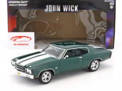 Chevrolet Chevelle SS 396 year 1970 Movie John Wick (2014) dark green metallic 1:18 Greenlight