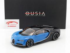 Bugatti Chiron Baujahr 2015 blau / schwarz 1:18 Kyosho