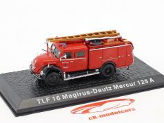 Magirus Deutz Mercur 125A TLF 16 vigili del fuoco Solingen 1:72 Altaya