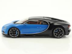 Bugatti Chiron year 2015 blue / black 1:18 Kyosho