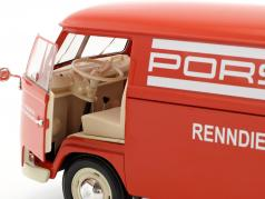 Volkswagen VW T1 Bus Porsche Renndienst year 1963 red / White 1:18 Welly