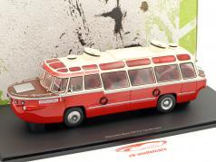 Mercedes-Benz OP312 van Rooijen anno di costruzione 1958 rosso / bianco 1:43 AutoCult