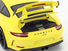 Porsche 911 (991 II) GT3 year 2018 racing yellow 1:18 Minichamps