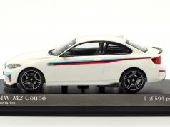 BMW M2 coupe Presentation year 2016 white 1:43 Minichamps
