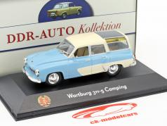 Wartburg 311-5 Camping light blue / white 1:43 Atlas