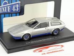 Audi 100 S Coupe Speciale Frua year 1974 silver / blue 1:43 AutoCult