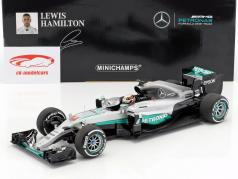 Lewis Hamilton Mercedes F1 W07 Hybrid #44 第二 澳大利亚 GP F1 2016 1:18 Minichamps