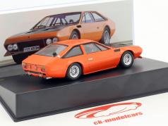 Lamborghini Jarama GTS Bob Wallace year 1972 orange 1:43 Leo Models