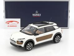 Citroen C4 Cactus year 2014 pearl white / brown 1:18 Norev