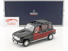 Renault 4 Parisienne year 1964 black / red 1:18 Norev