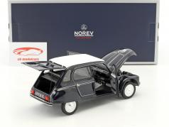 Citroen Dyane 6 Caban with removable softtop year 1977 black 1:18 Norev