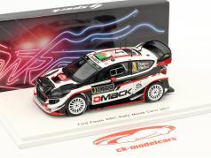 Ford Fiesta WRC #3 6th Rallye Monte Carlo 2017 Evans, Barritt 1:43 Spark