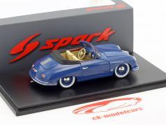 Porsche 356 Cabriolet Baujahr 1951 blau 1:43 Spark